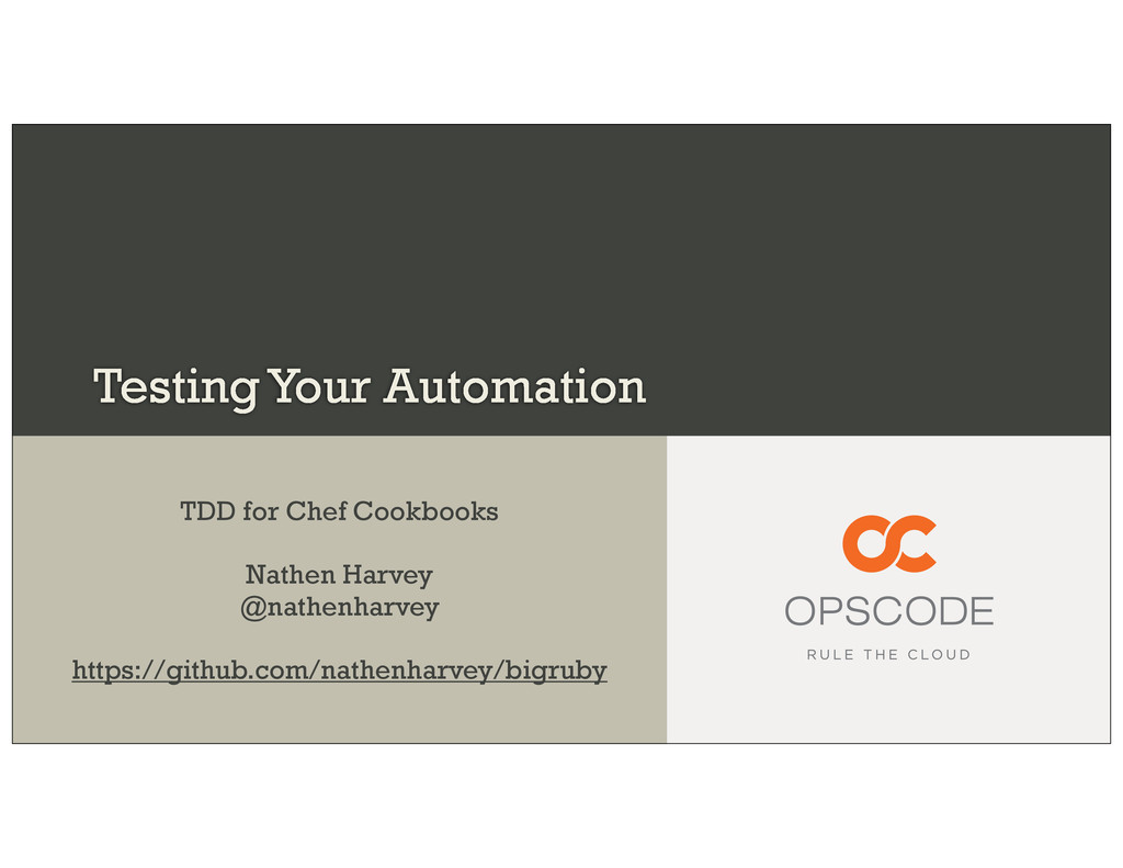 Testing Your Automation TDD for Chef Cookbooks ...