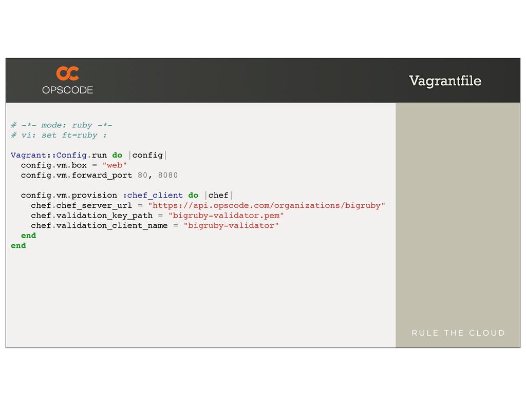 Vagrantfile # -*- mode: ruby -*- # vi: set ft=r...