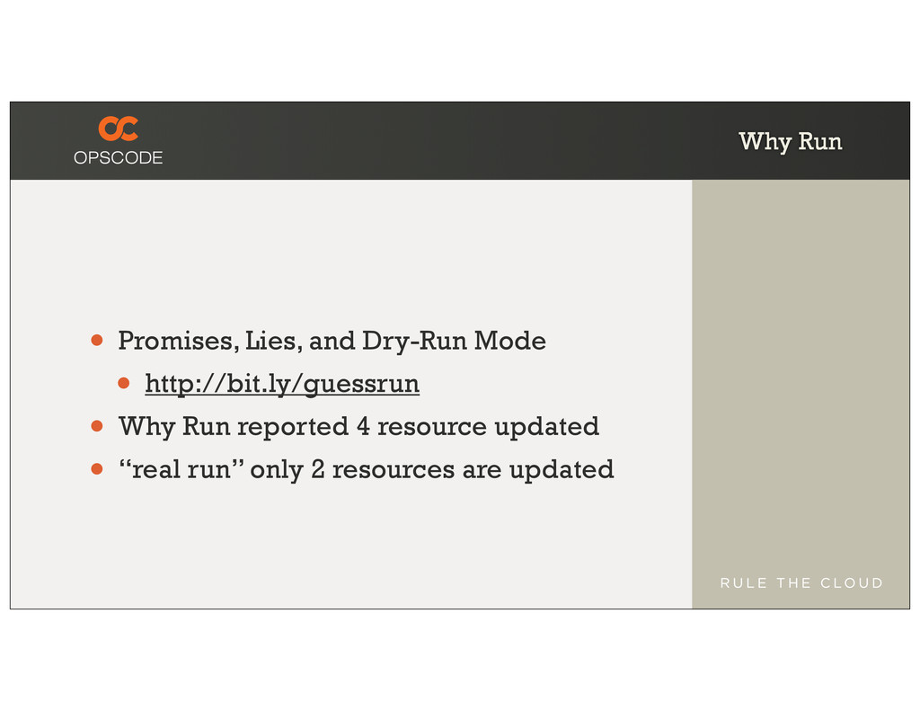 Why Run • Promises, Lies, and Dry-Run Mode • ht...