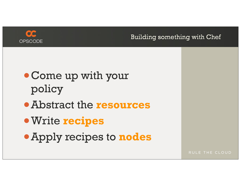 Building something with Chef •Come up with your...
