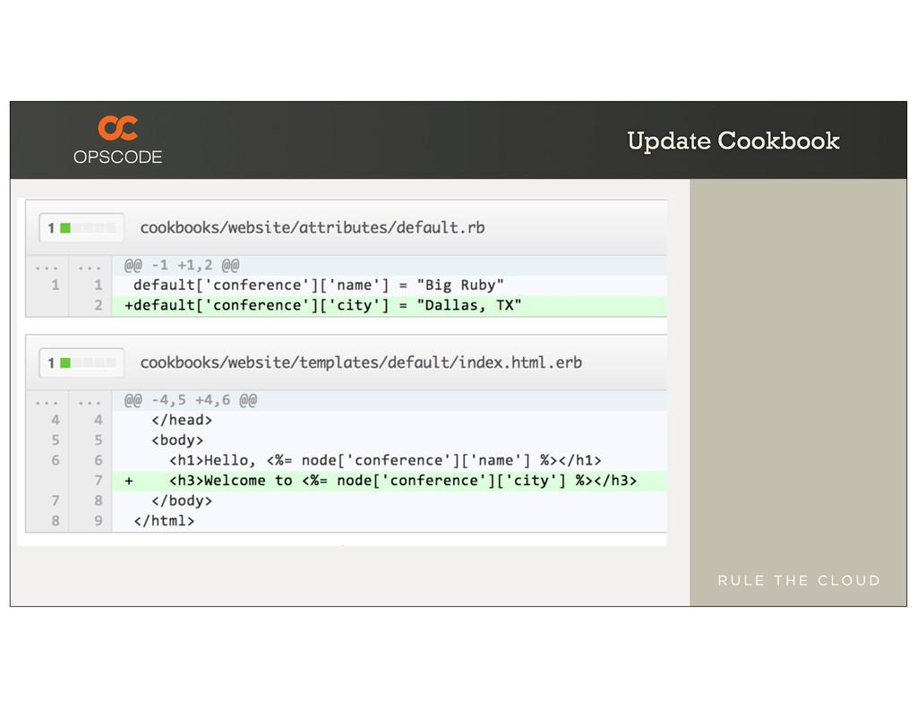 Update Cookbook