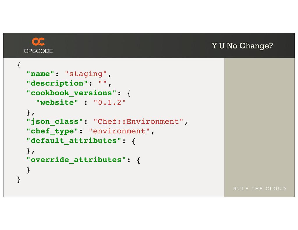 """Y U No Change? { """"name"""": """"staging"""", """"descriptio..."""