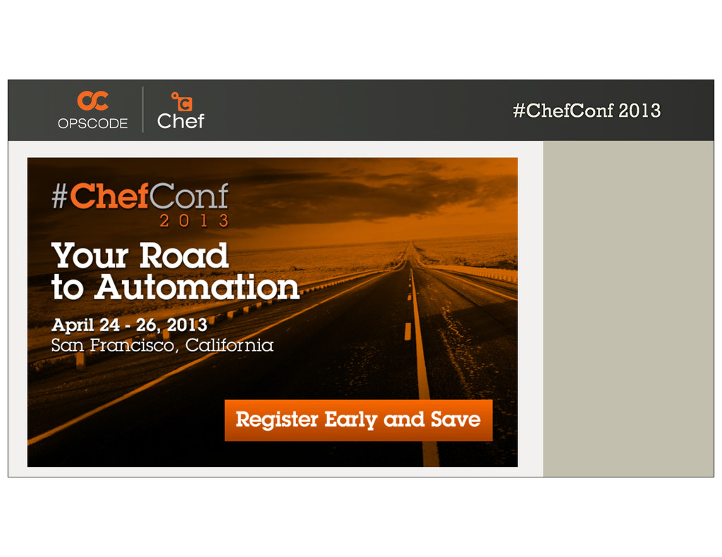 #ChefConf 2013