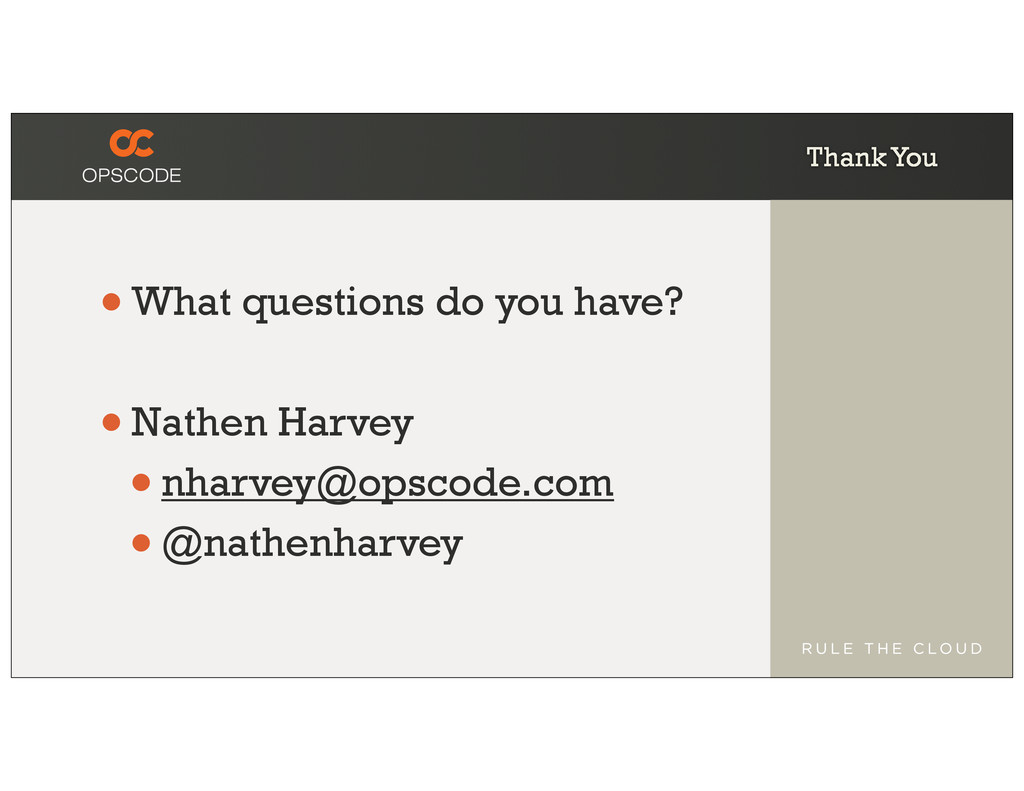 Thank You •What questions do you have? •Nathen ...