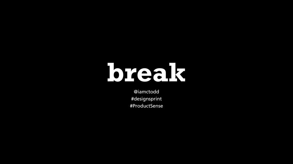 @iamctodd #designsprint #ProductSense break