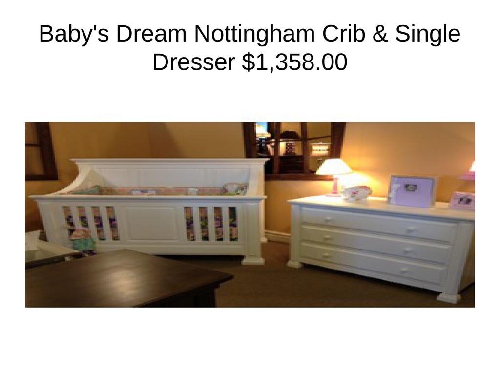 Baby's Dream Nottingham Crib & Single Dresser $...