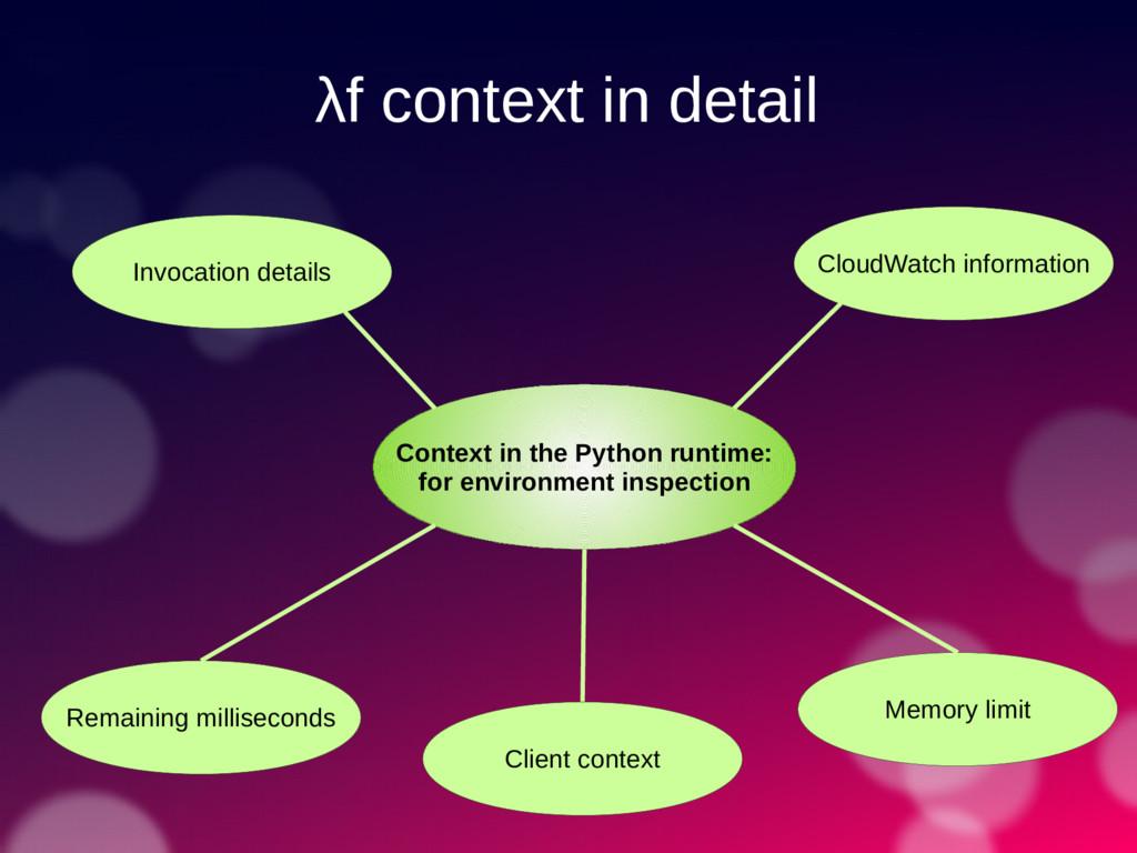 λf context in detail Context in the Python runt...
