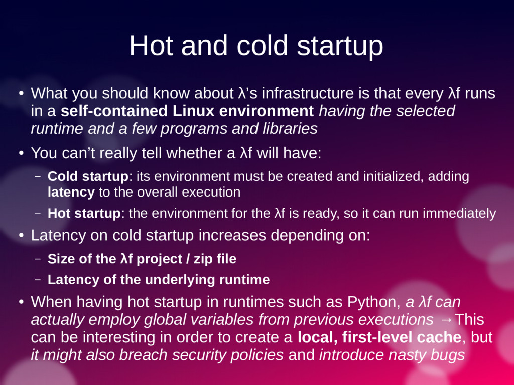 Hot and cold startup ● What you should know abo...