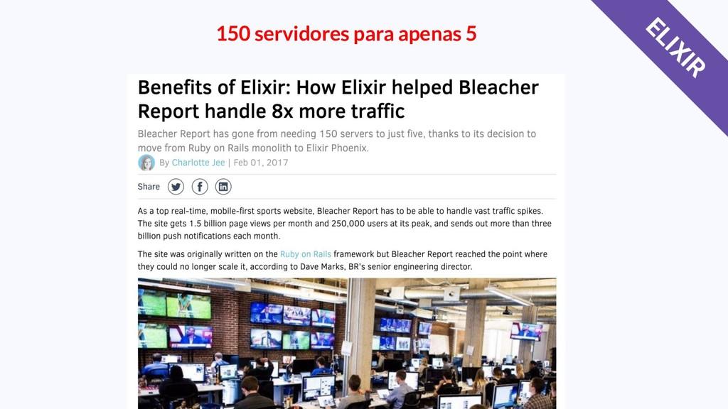 150 servidores para apenas 5 ELIXIR