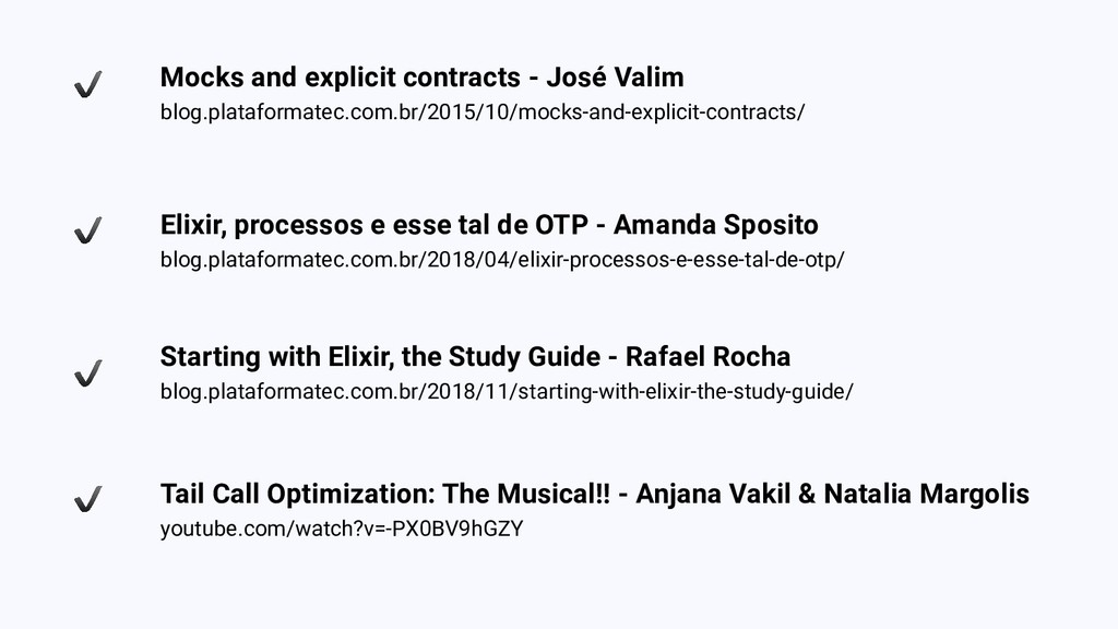 Mocks and explicit contracts - José Valim blog....