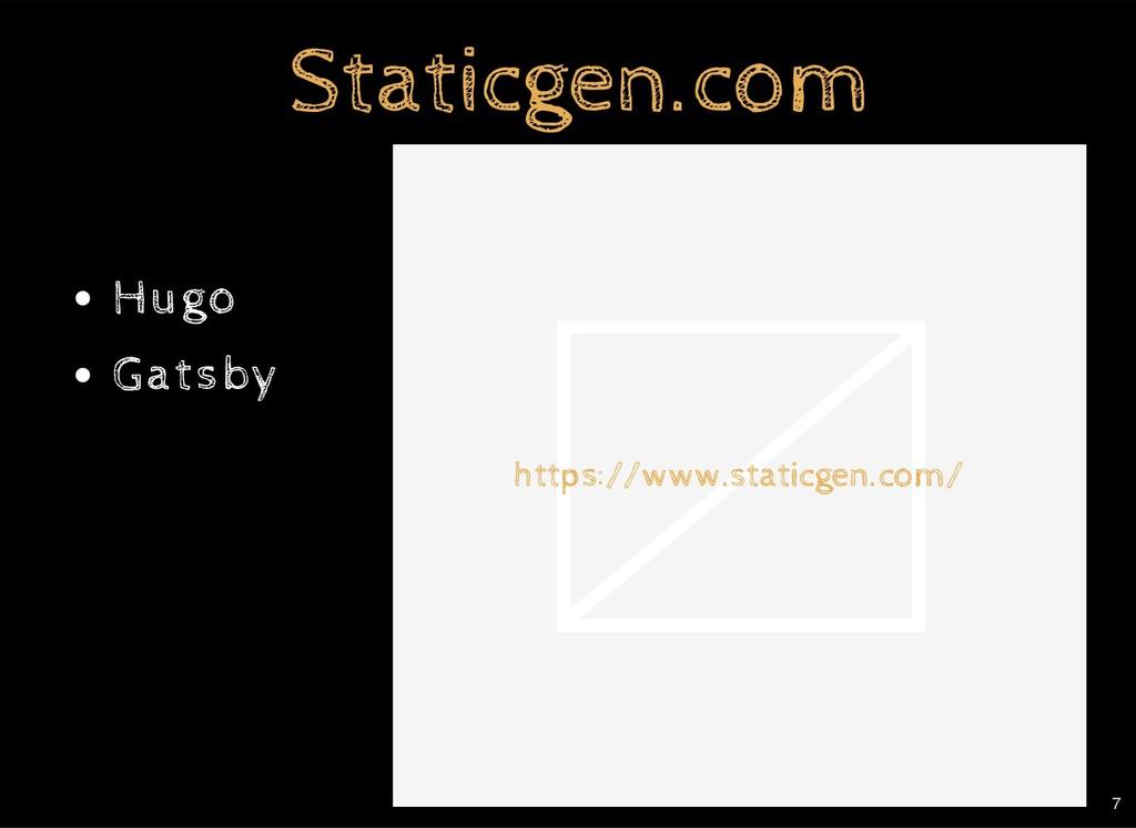 https://www.staticgen.com/ Staticgen.com Static...
