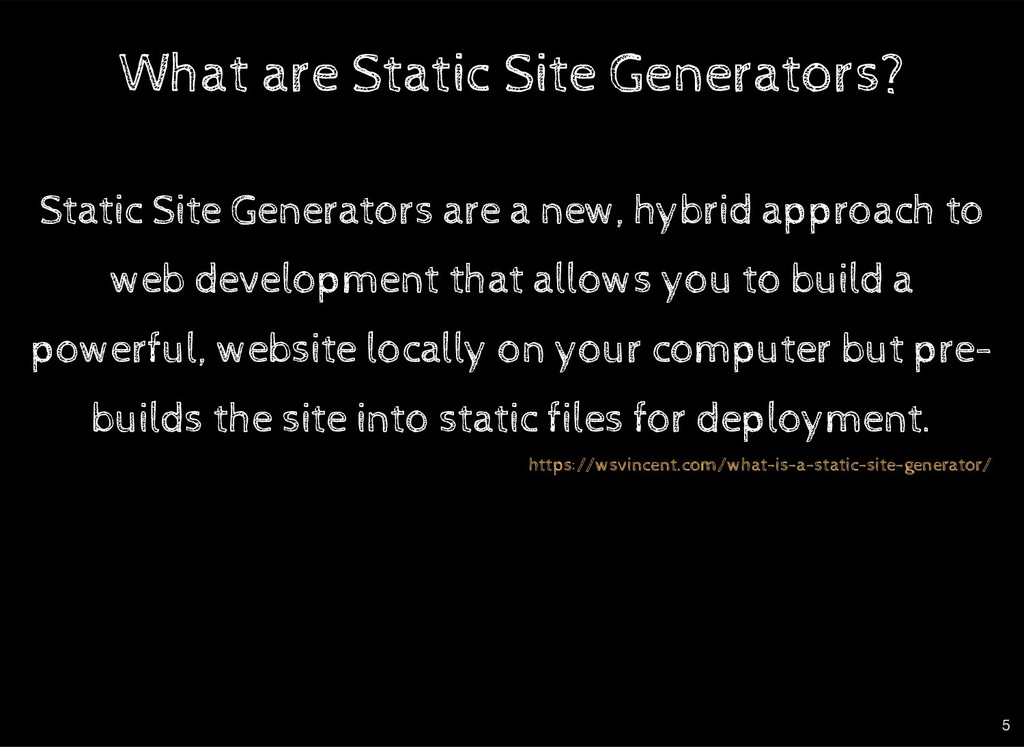 What are Static Site Generators? What are Stati...