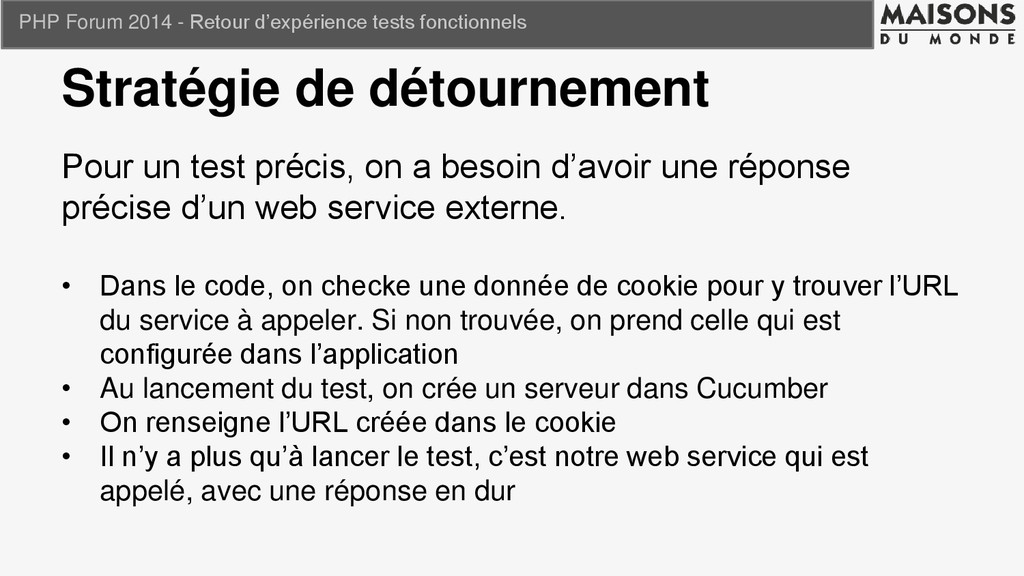 PHP Forum 2014 - Retour d'expérience tests fonc...