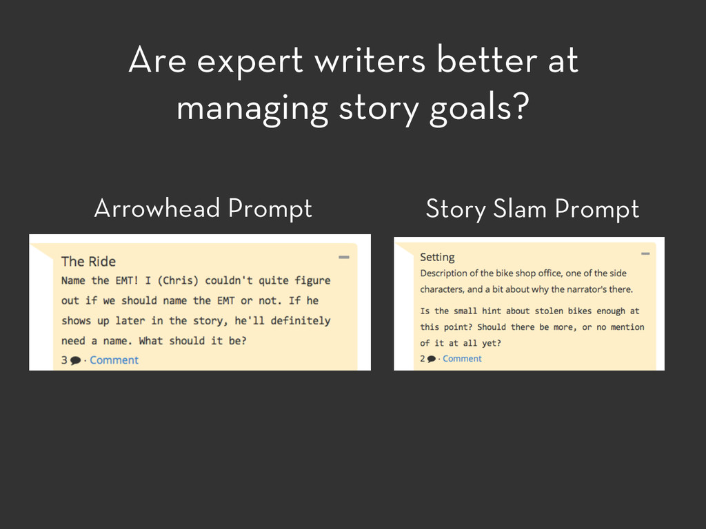 Arrowhead Prompt Story Slam Prompt Are expert w...