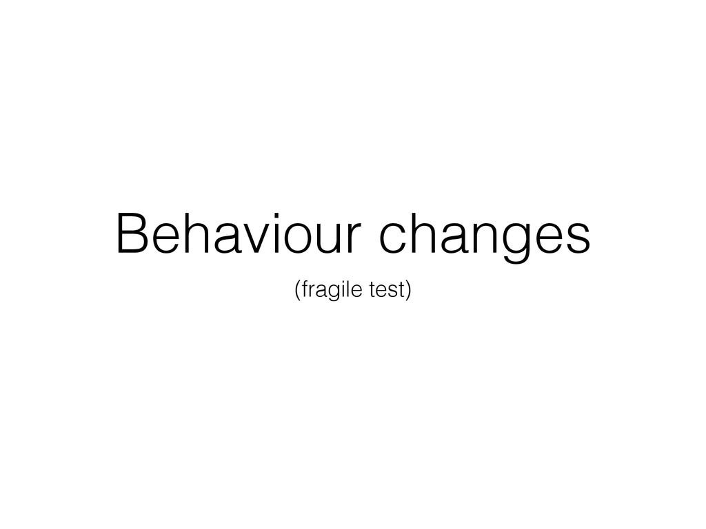 Behaviour changes (fragile test)