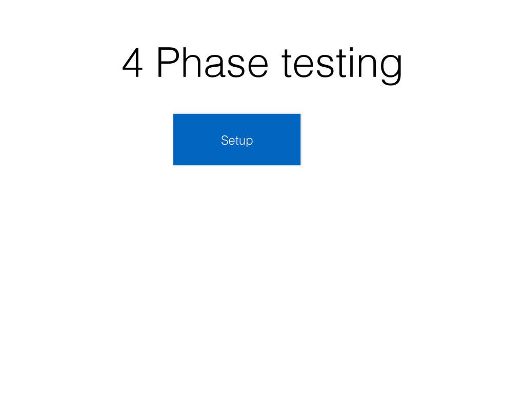 4 Phase testing Setup