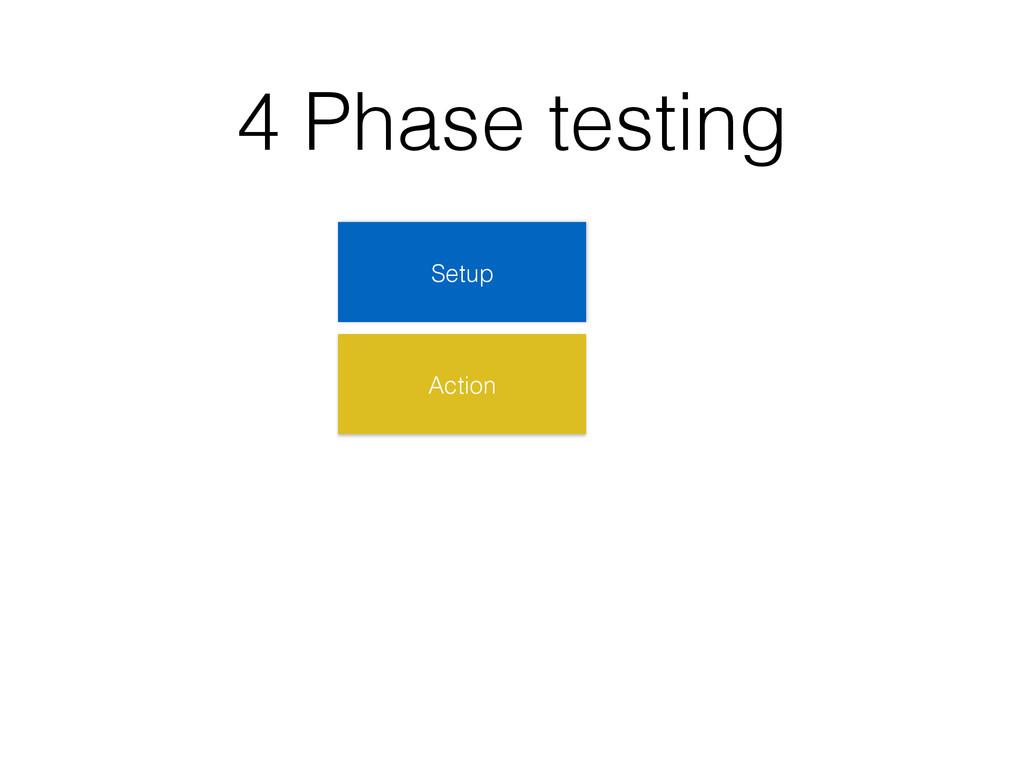 4 Phase testing Setup Action