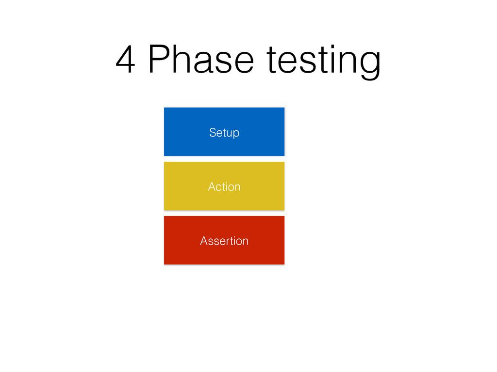 4 Phase testing Setup Action Assertion