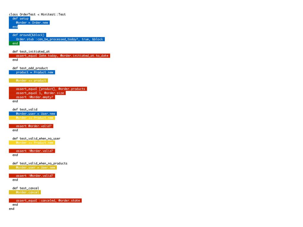 class OrderTest < Minitest::Test def setup @ord...
