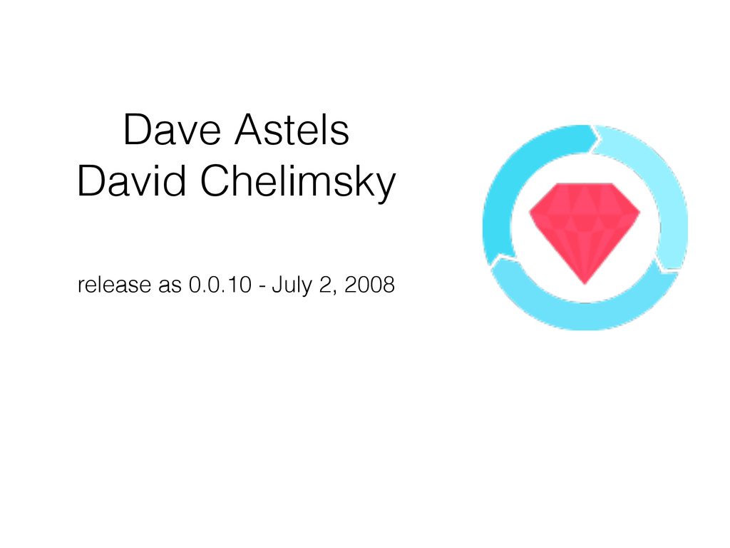 Dave Astels David Chelimsky release as 0.0.10 ...