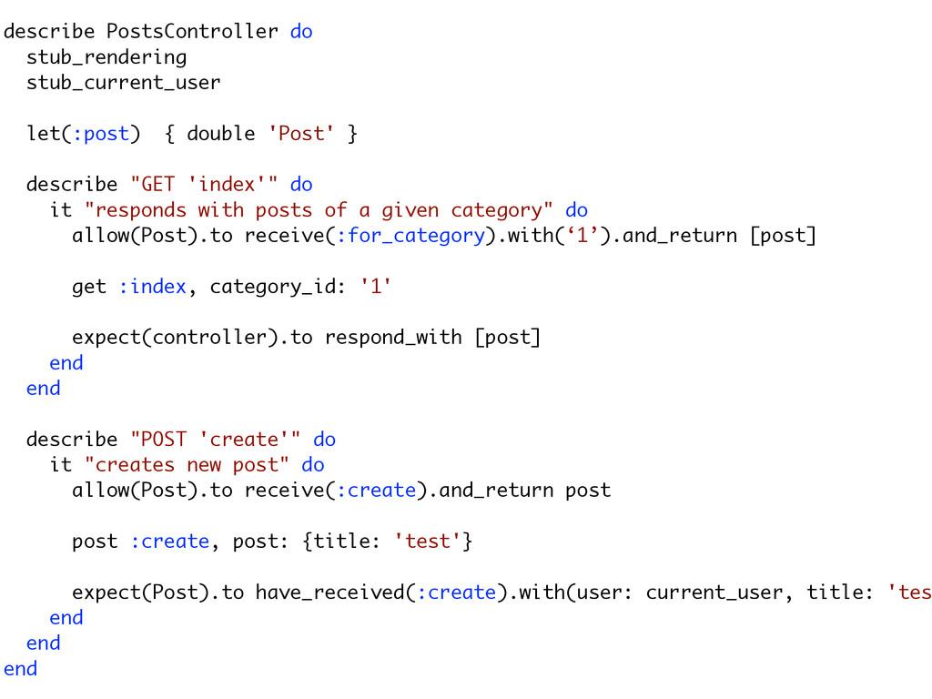 describe PostsController do stub_rendering stub...