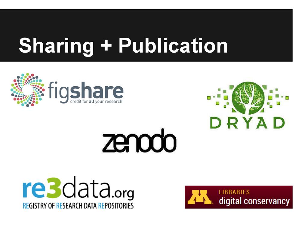 Sharing + Publication