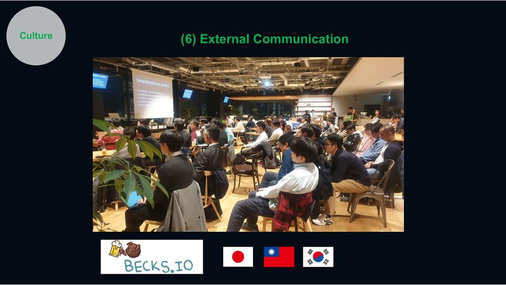 Culture (6) External Communication