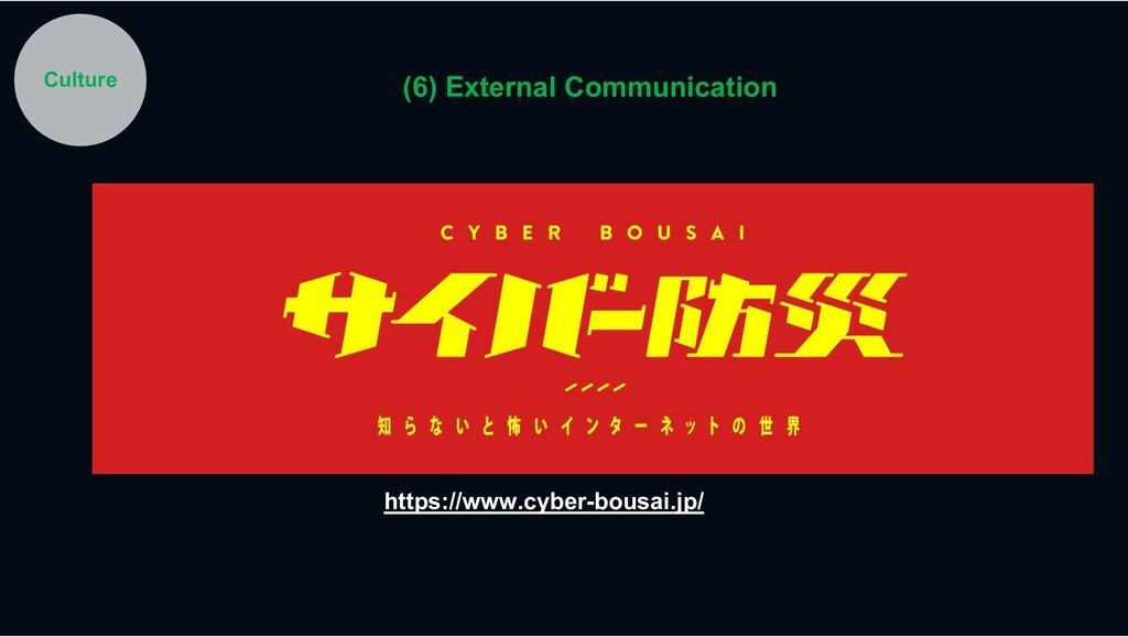 https://www.cyber-bousai.jp/ Culture (6) Extern...