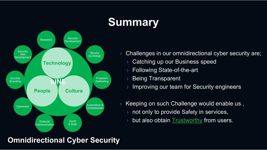 Summary LINE LINE Security Development Automati...