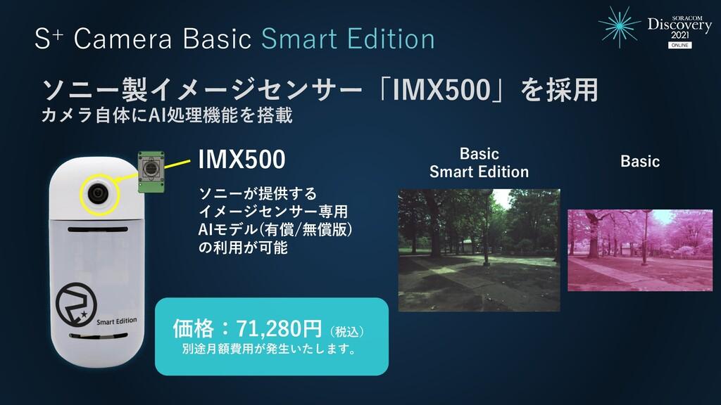 S+ Camera Basic Smart Edition IMX500 ソニー製イメージセン...