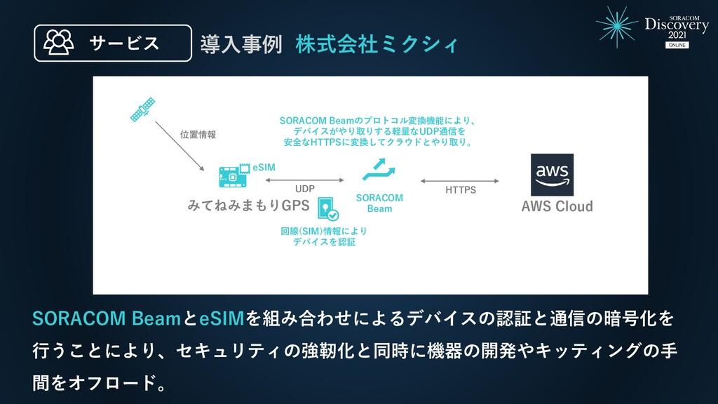 株式会社ミクシィ 導入事例 SORACOM BeamとeSIMを組み合わせによるデバイスの認証...