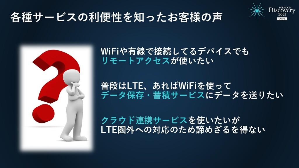 WiFiや有線で接続してるデバイスでも リモートアクセスが使いたい 普段はLTE、あればWiF...