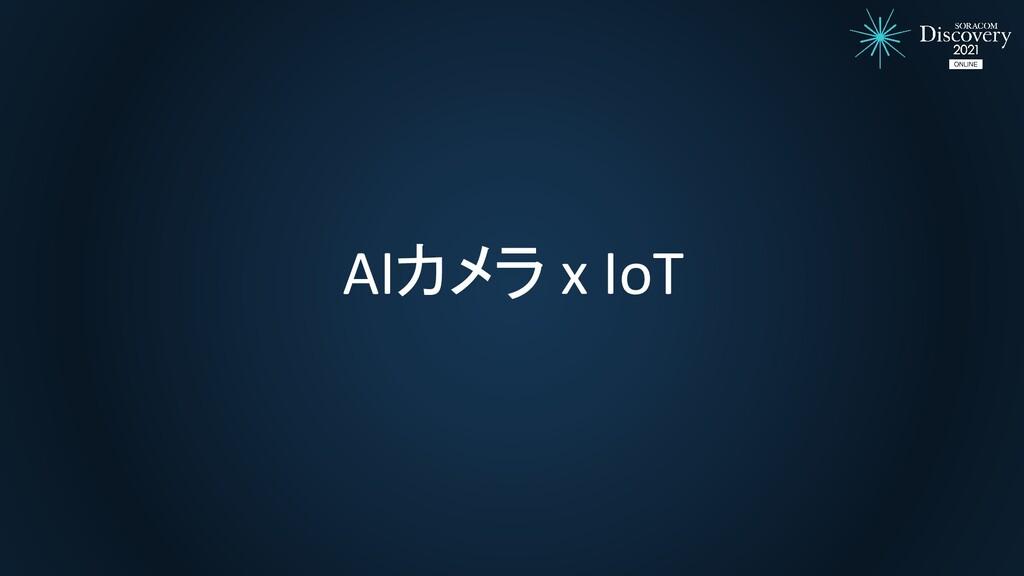AIカメラ x IoT