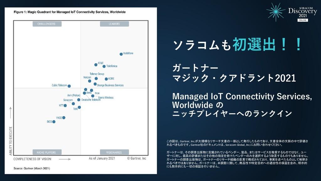 ソラコムも初選出!! ガートナー マジック・クアドラント2021 Managed IoT Co...