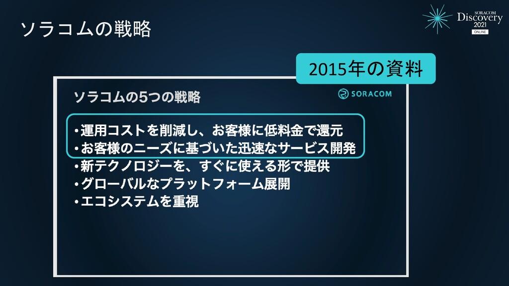 ソラコムの戦略 2015年の資料