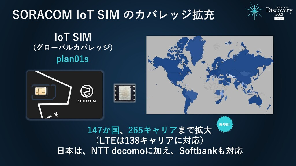SORACOM IoT SIM のカバレッジ拡充 147か国、265キャリアまで拡大 (LTE...