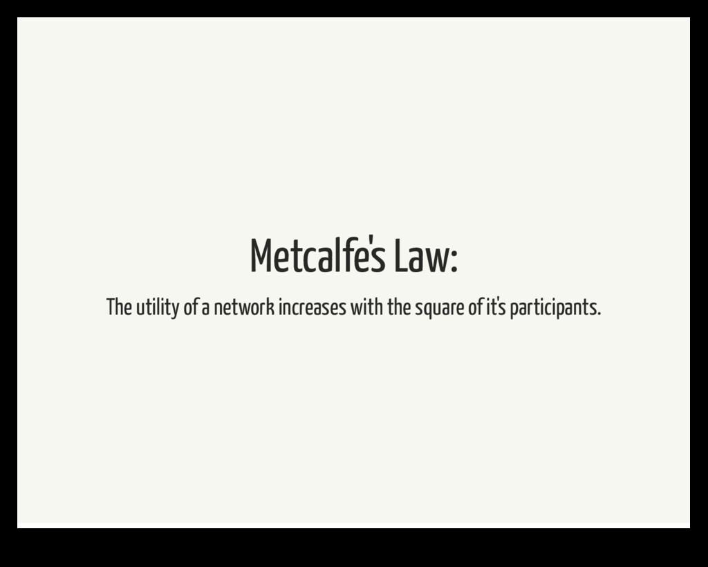Metcalfe's Law: The utility of a network increa...