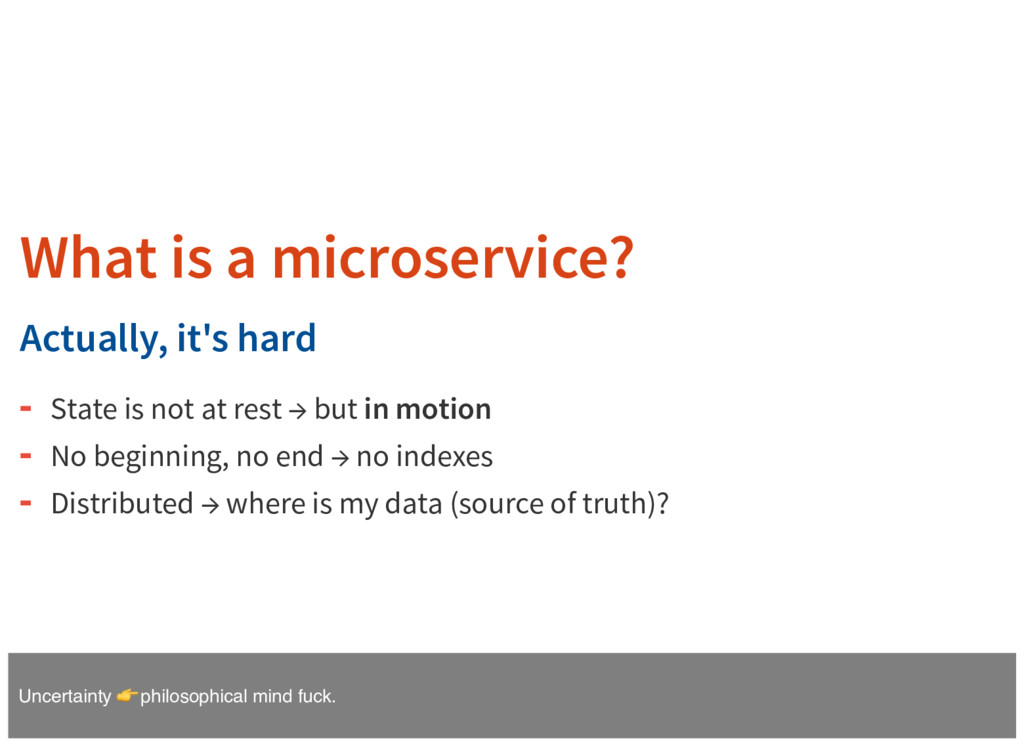 What is a microservice? Actually, it's hard Sta...
