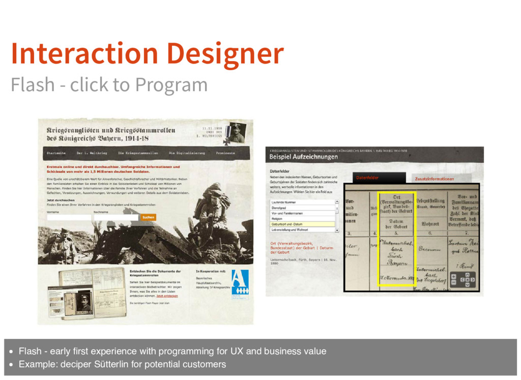 Interaction Designer Flash - click to Program F...