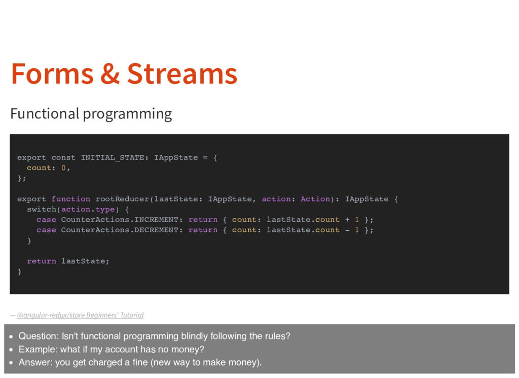 Forms & Streams Functional programming — export...