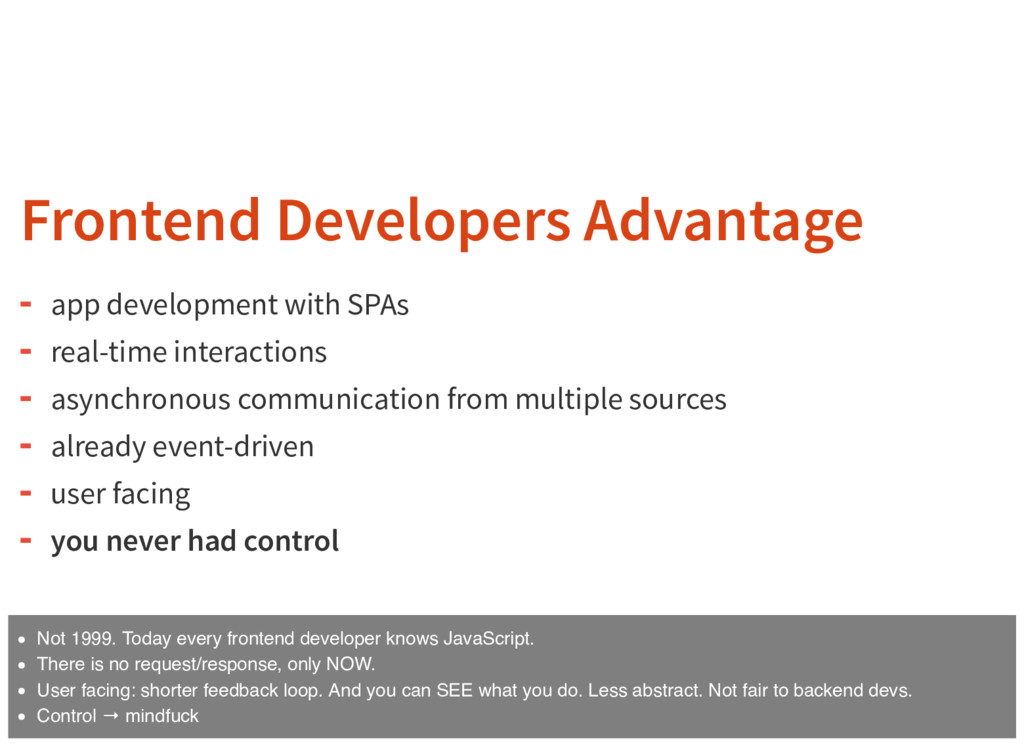 Frontend Developers Advantage app development w...