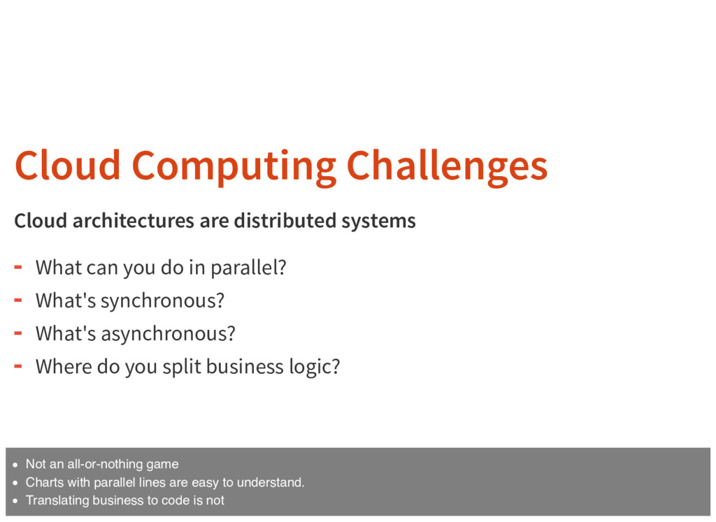 Cloud Computing Challenges Cloud architectures ...