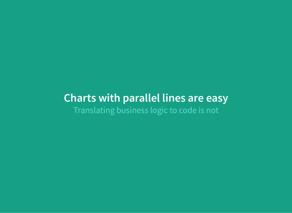Charts with parallel lines are easy Translating...