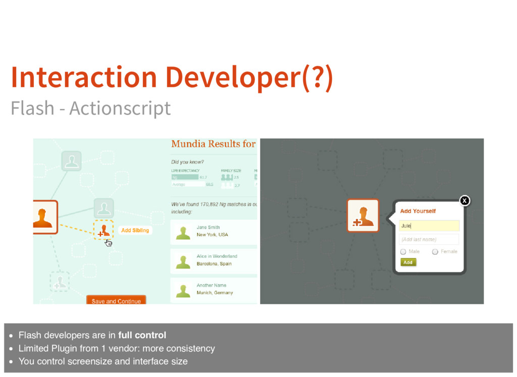 Interaction Developer(?) Flash - Actionscript F...