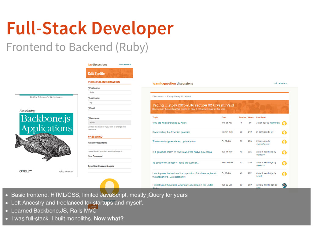 Full-Stack Developer Frontend to Backend (Ruby)...
