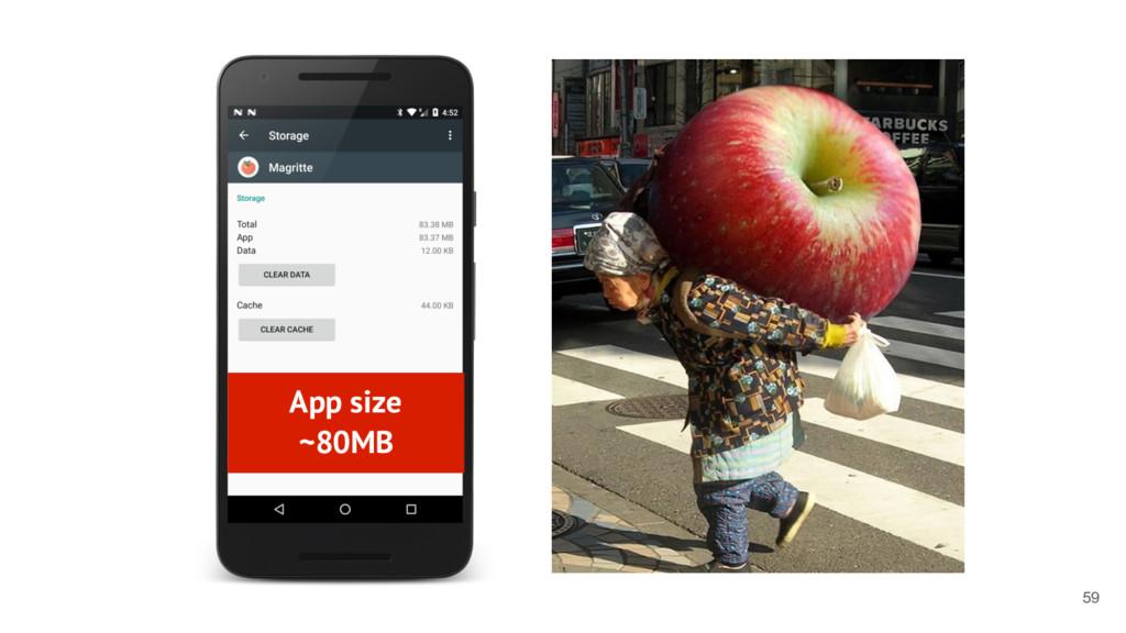 App size ~80MB 59