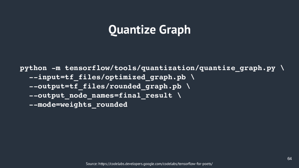 64 Quantize Graph Source: https://codelabs.deve...
