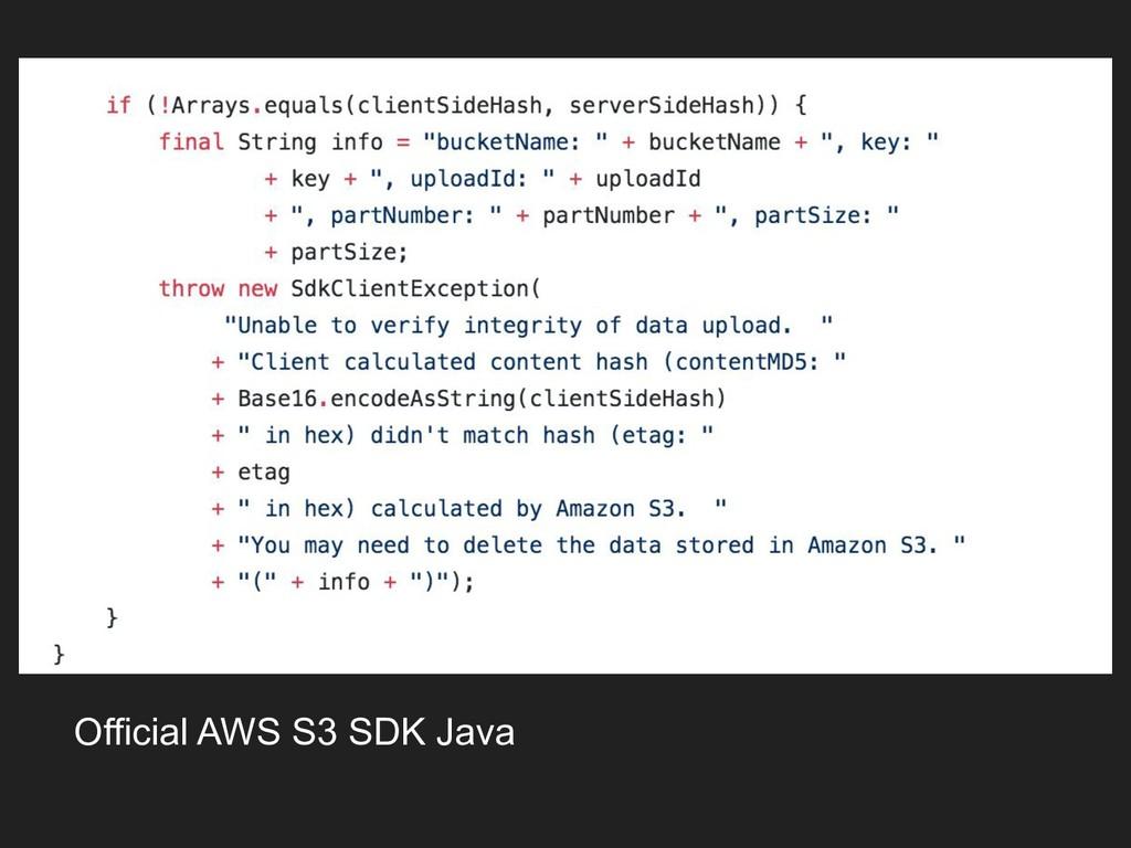 Official AWS S3 SDK Java