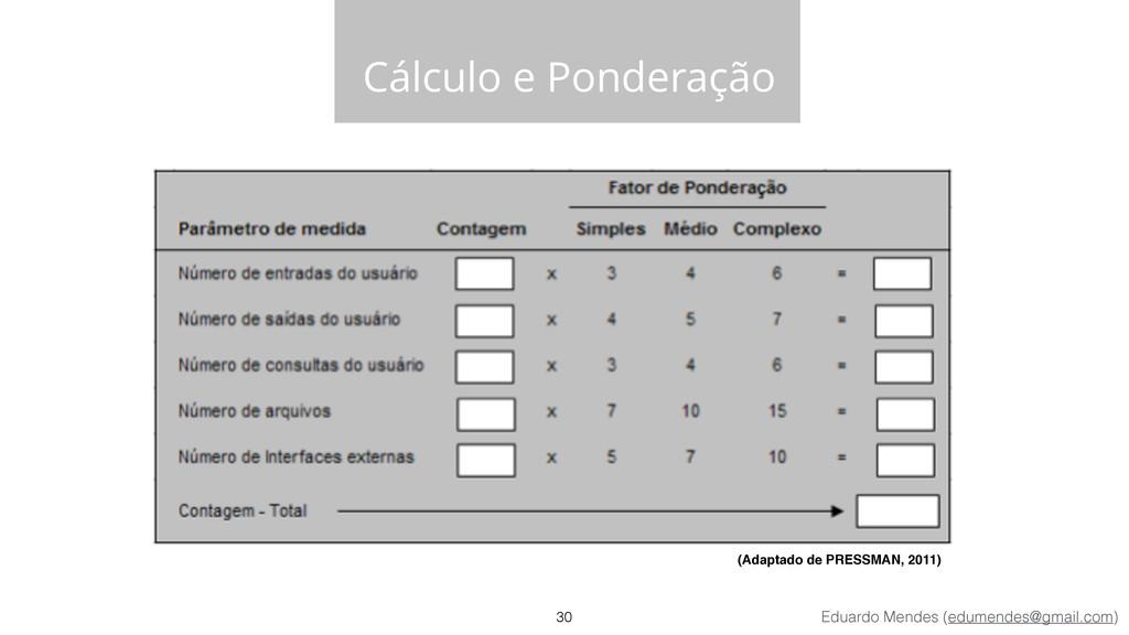 Eduardo Mendes (edumendes@gmail.com) Cálculo e ...