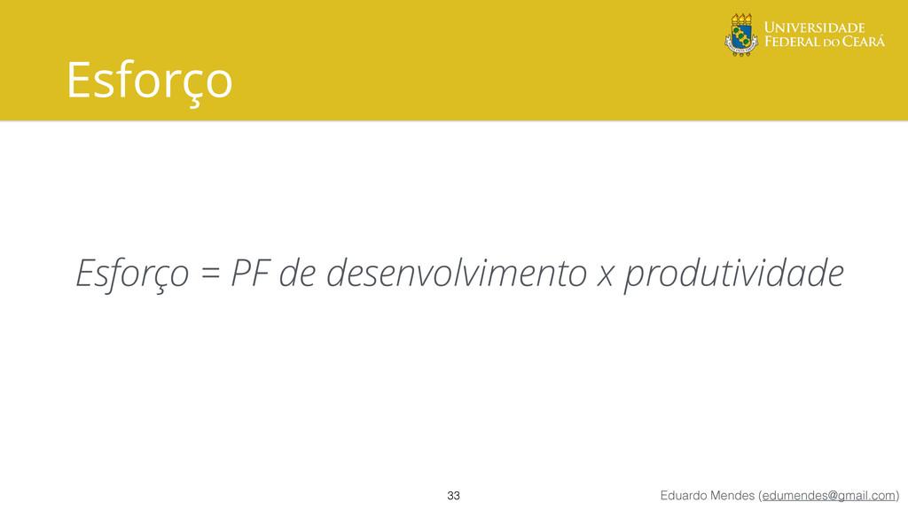 Eduardo Mendes (edumendes@gmail.com) Esforço Es...